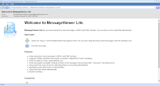 Easy to use .eml or .msg email file viewer, MessageViewer Lite.