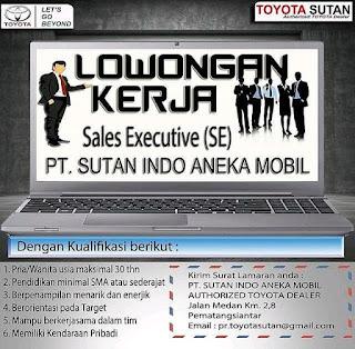Sales Executive di PT Sutan Indo Aneka Mobil
