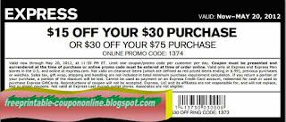 Free Printable Express Coupons