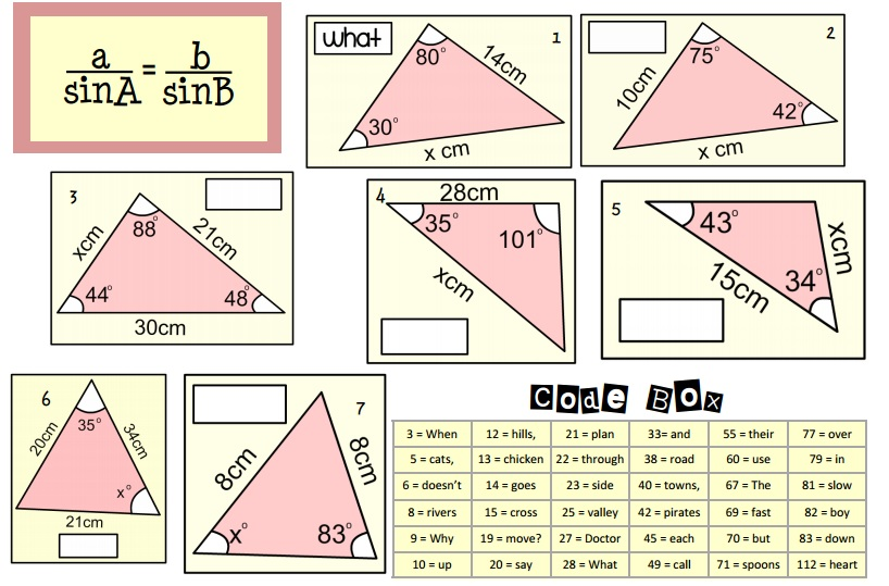 the sine rule worksheet the best and most comprehensive worksheets. Black Bedroom Furniture Sets. Home Design Ideas