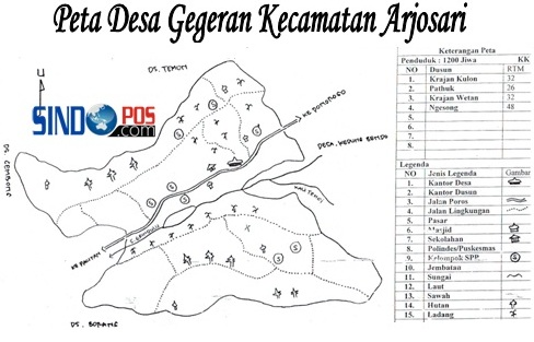 Profil Desa & Kelurahan, Desa Gegeran Kecamatan Arjosari Kabupaten Pacitan