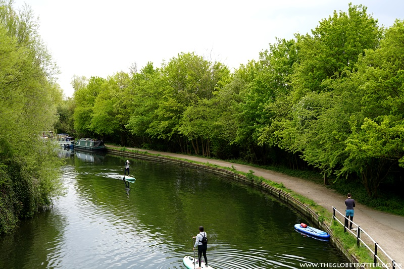 People paddle boarding on River Lee