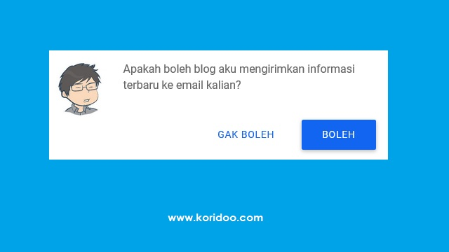 Cara Membuat Web Push Notifications di Blogger