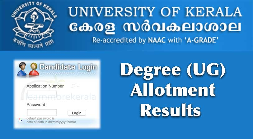 kerala university degree third allotment 2019