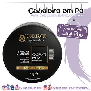 Máscara Colorante Spécialiste Preta - Bio Extratus (Low Poo)