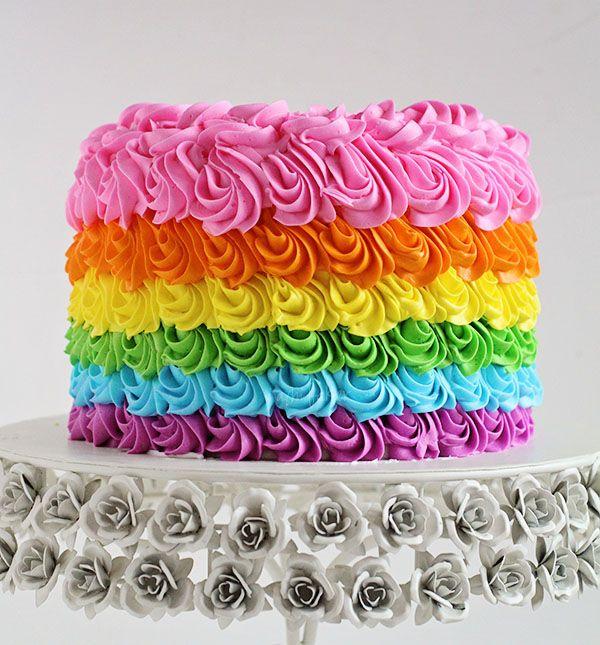 Rainbow Birthday Cake from I Am Baker