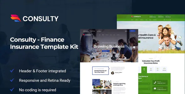 Best Finance Consulting Elementor Template Kit
