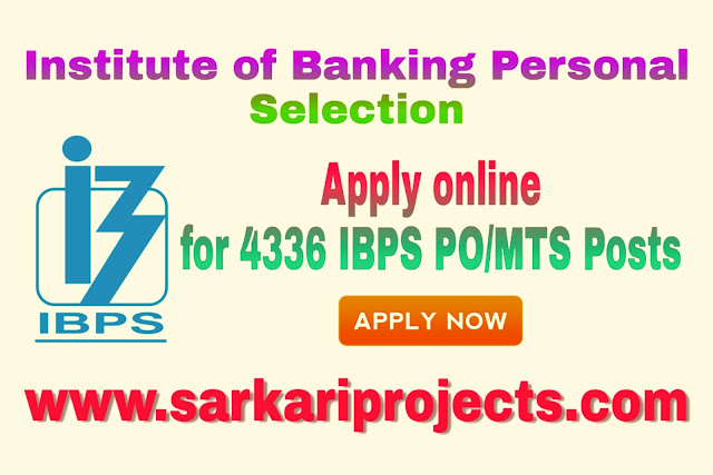 IBPS PO Notification 2019|Apply online for 4336 IBPS PO/MTS Posts