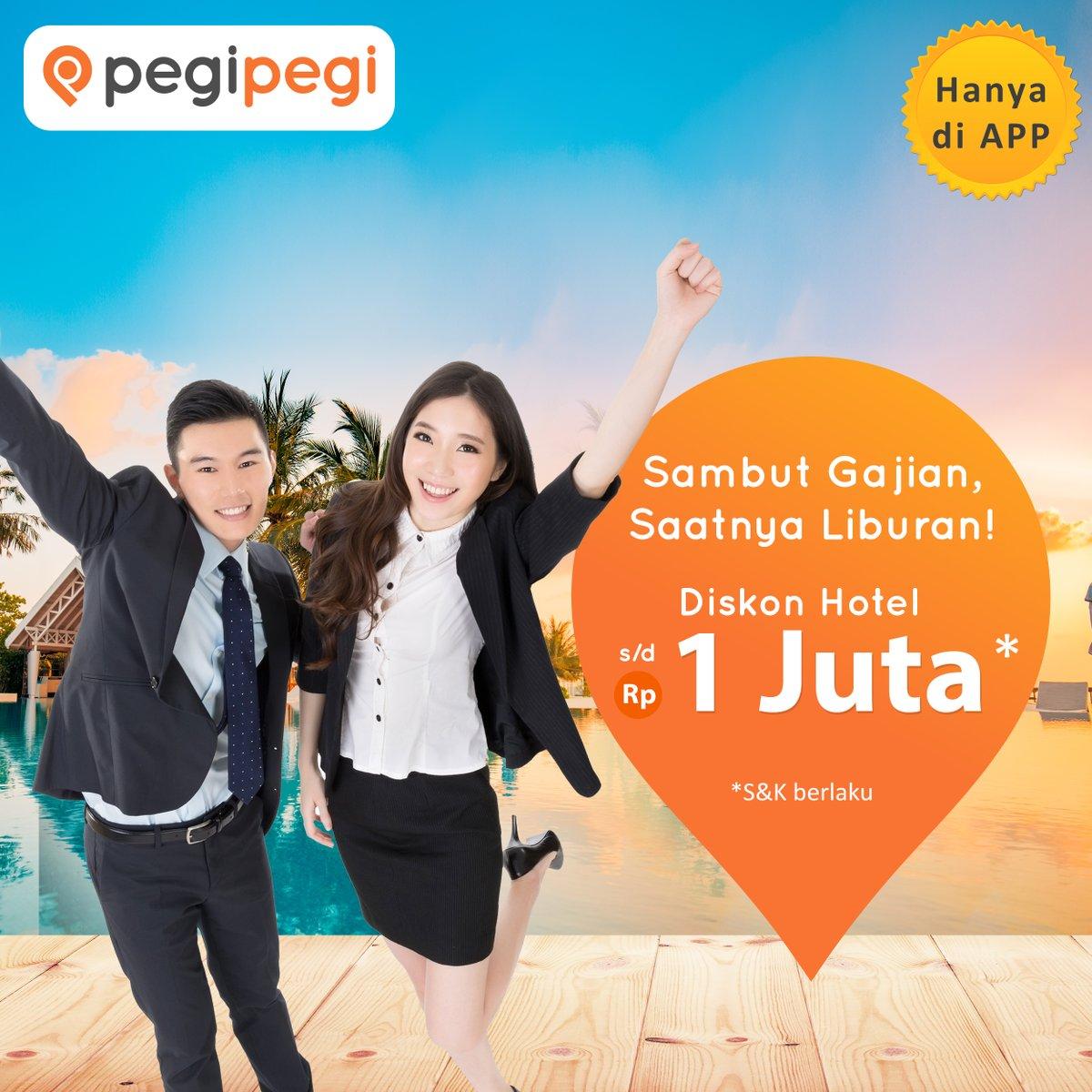 PegiPegi - Voucher Promo Gajian Diskon Hotel s.d 1 Juta (s.d 5 Agustus 2018)