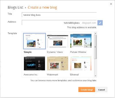 Gambar tutorial 1 meniat memiliki blog gratis