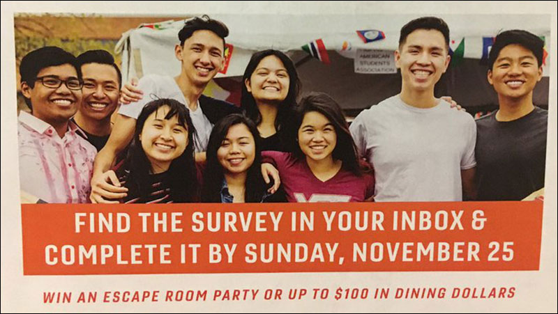 this virginia tech flyer for international students doesn t feature