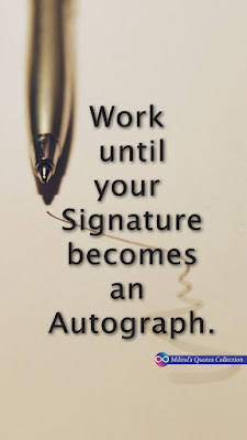 Autograph Writing Quotes