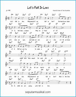 chord let's fall in love lagu jazz standar