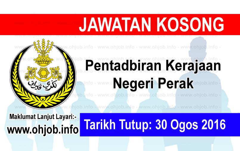 Jawatan Kerja Kosong Pentadbiran Kerajaan Negeri Perak logo www.ohjob.info ogos 2016