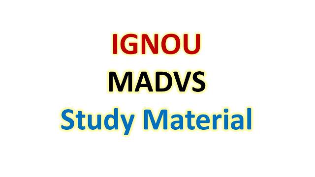 IGNOU MADVS Study Material
