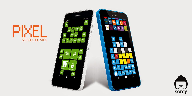 God Of Theme Making: Pixel Art - Nokia Lumia - Windows Tiles