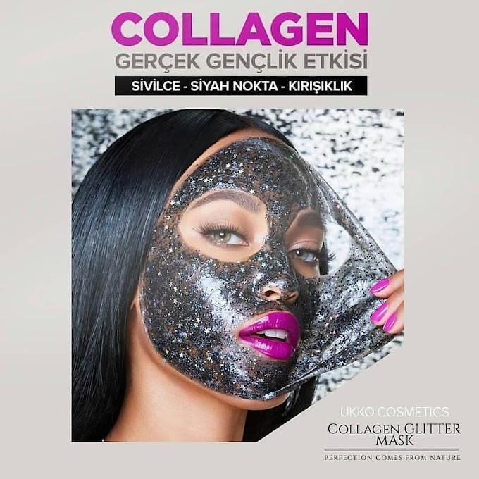 Simli Collagen Maske Fırça Hediyeli