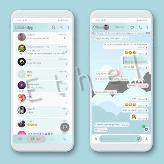 Minimalist Mountains Theme For YOWhatsApp & Mn WhatsApp By Ethel