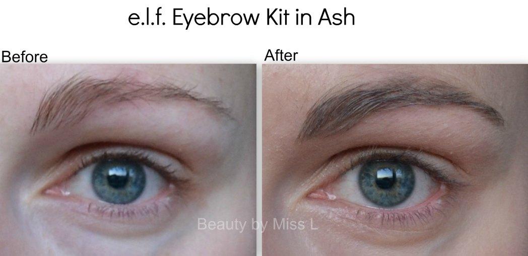 e.l.f kulmupalett toonis Ash enne & pärast