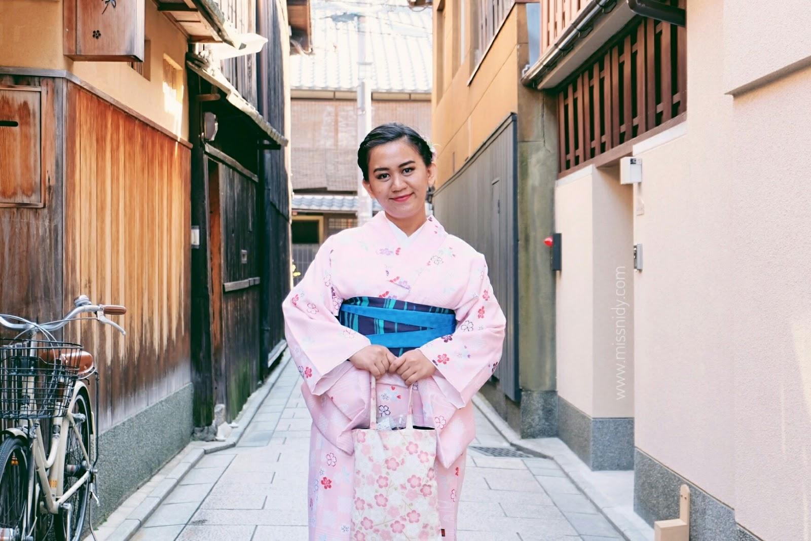 sewa kimono yang murah di kyoto