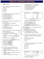 JAMB/UTME 2011 ECONOMICS QUESTIONS (TEXT)