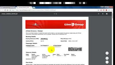 cara mengunduh tiket pesawat lion air