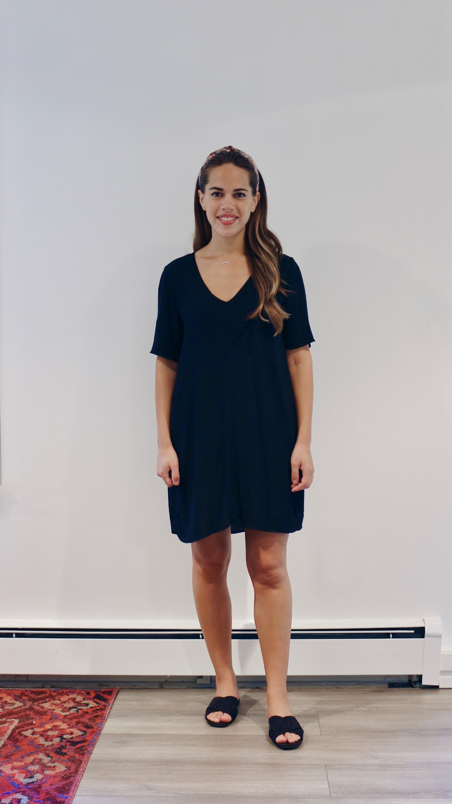 Jules in Flats -  Wilfred T-Shirt Dress with Headband (Business Casual Summer Workwear on a Budget)