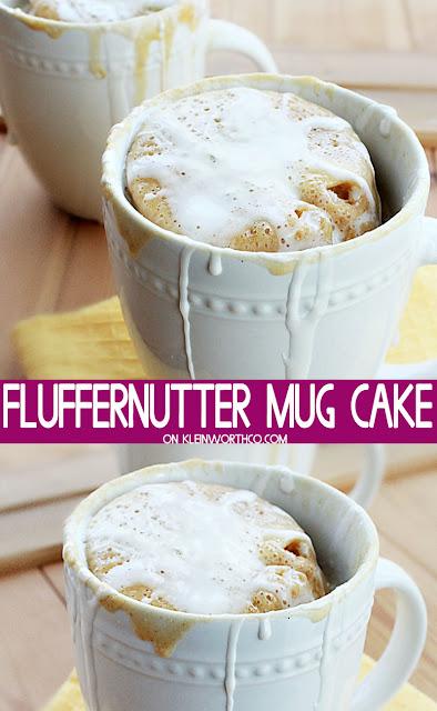 Fluffernutter Mug Cake
