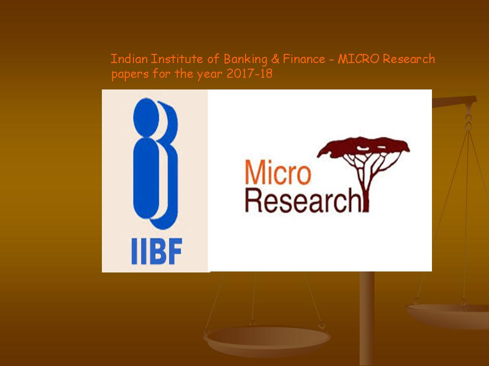 research papers on micro finance A research proposal on the impacts of  to make assertions on the awareness and impacts of microfinance in kenya 32 research  papers from meetings, as for.