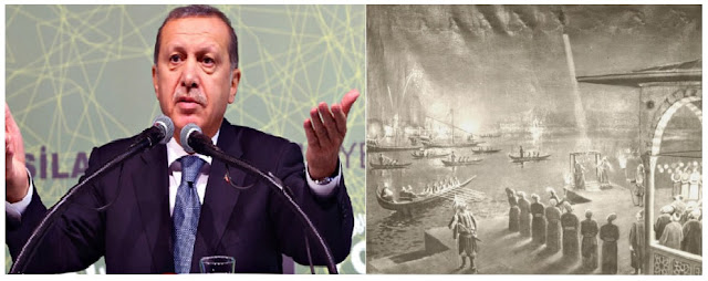 Erdoğan claimed that Muslim explorers reached the Moon more than 300 years before the beginning of the Appolo program