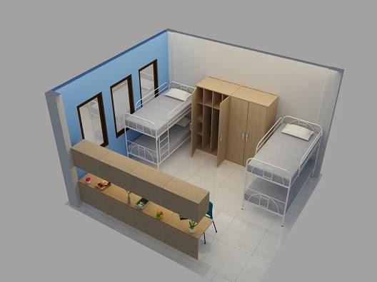 JASA GAMBAR DESAIN 2D 3D MURAH BERPENGALAMAN Gambar Interior Desain Rumah Susun Sederhana