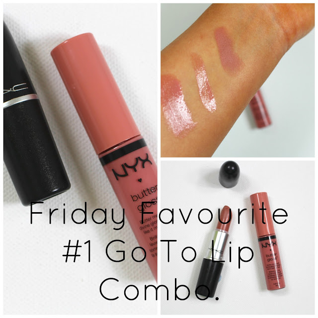 Go To Lip Combo MAC Honey love, NYX and Swatches