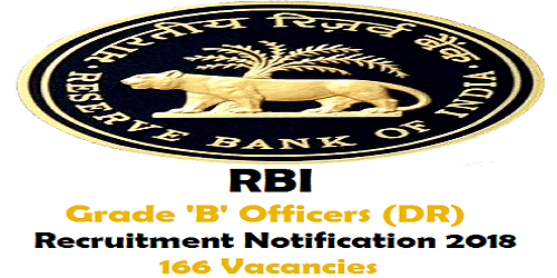RBI Grade 'B' Officers Recruitment Notification 2018