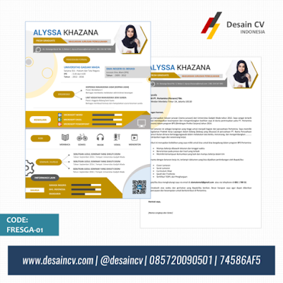 Template CV Kreatif Format Ms Word untuk Fresh Graduate