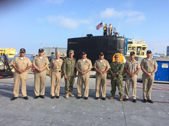 Submarinistas Peruanos participó en navegación operacional a bordo del submarino USS Connecticut (SSN-22)
