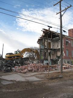 Demolition of a viable historic building