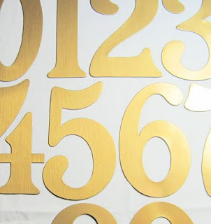 "5"" Brass Vinyl Magnetic Numbers"