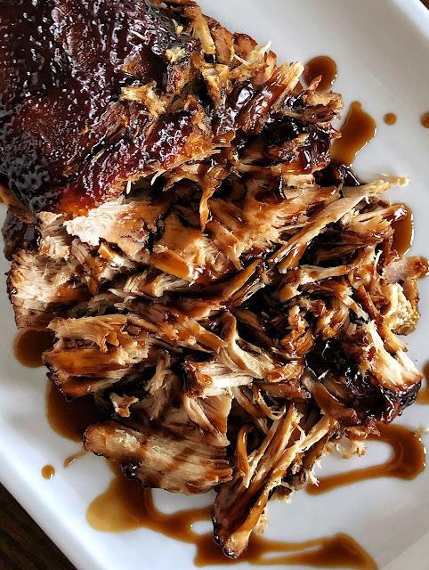 brown sugar and balsamic glazed pork