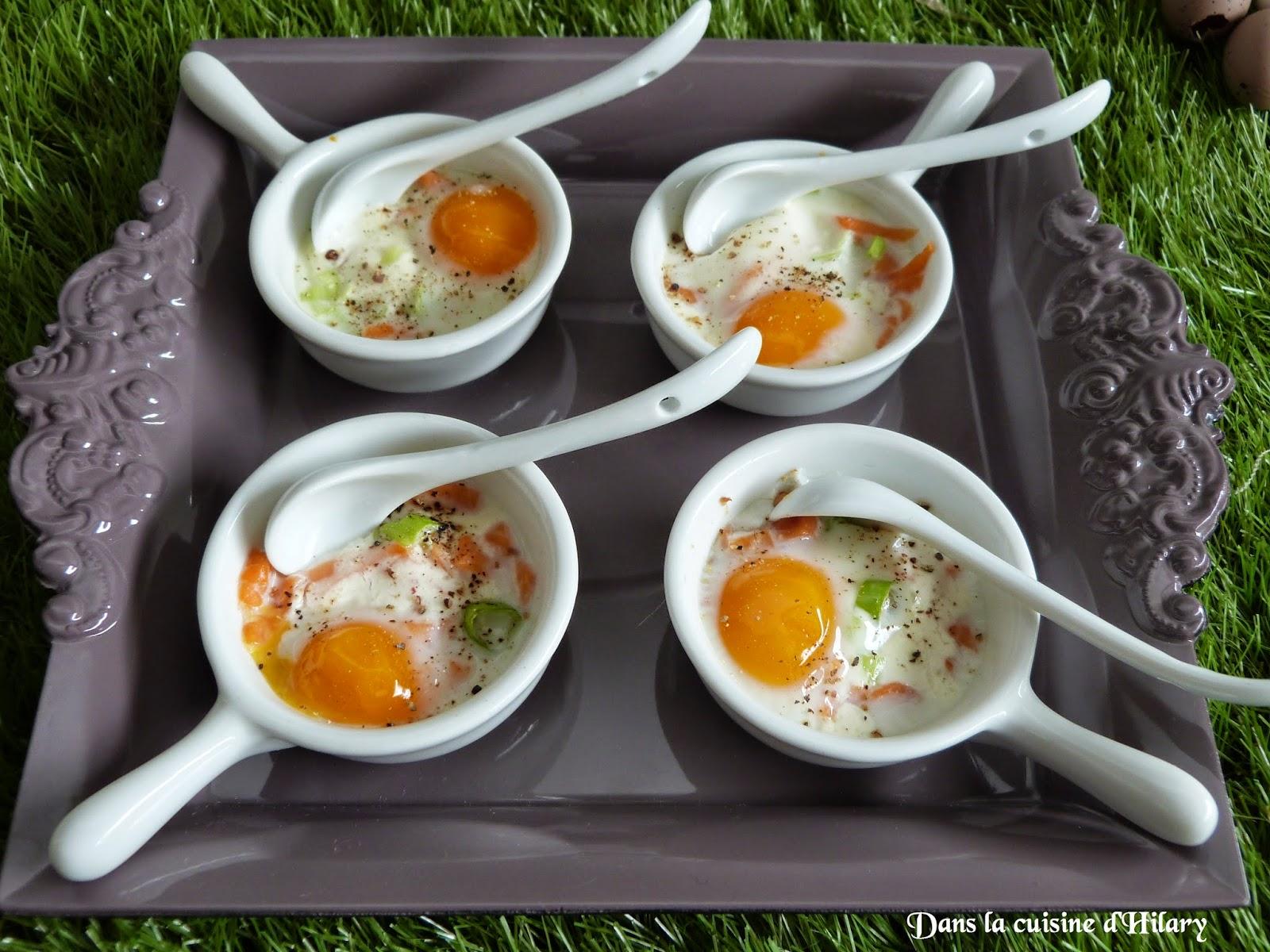 dans la cuisine d 39 hilary oeufs de caille cocotte au saumon fum quail egg casserole with. Black Bedroom Furniture Sets. Home Design Ideas