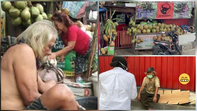 Ditelusuri VIVA, Gelandangan yang Ditemui Risma Terciduk Jualan Kelapa dan Poster Soekarno