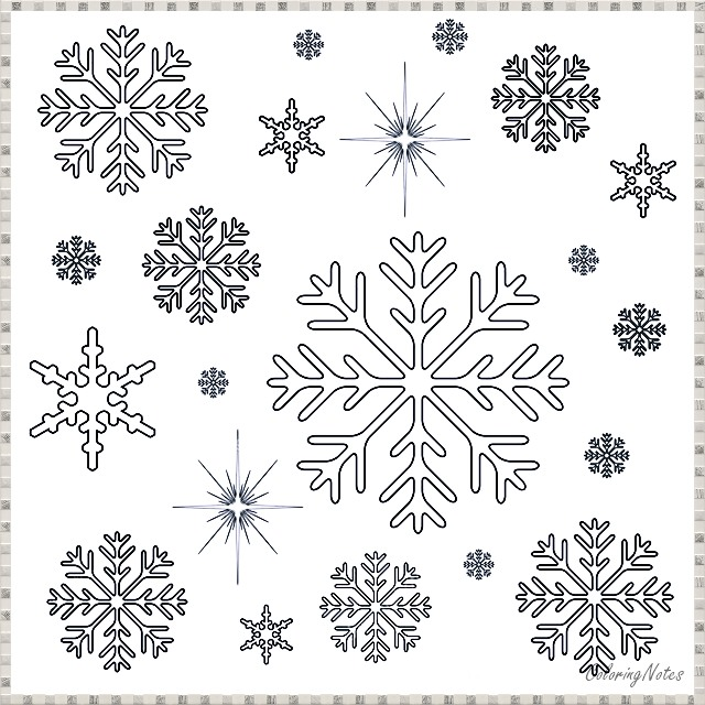 16 Easy Christmas Snowflakes Coloring Pages Free Printable ...