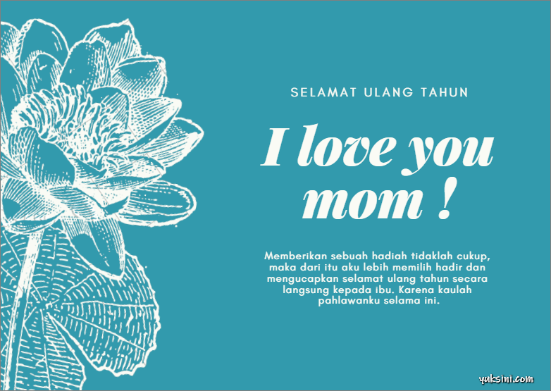 kartu ucapan selamat ulang tahun untuk ibu