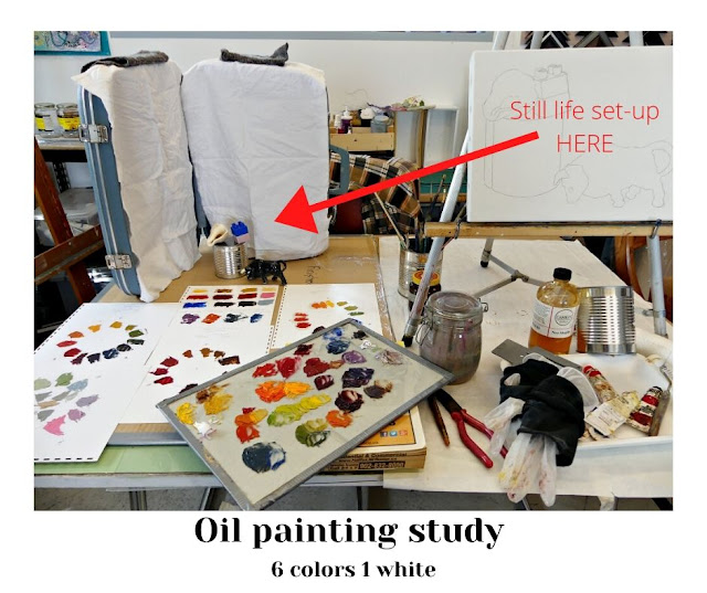 Oil painting studies & still life for Tipping Point.