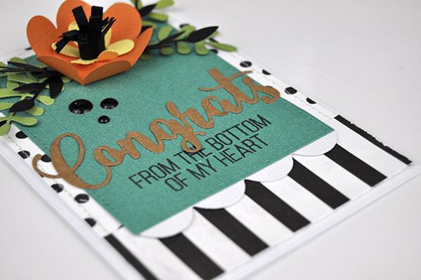 Congrats Flower Die Cut Card