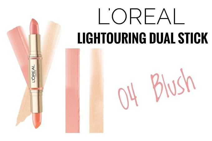 Review L'Oreal Lightouring Dual Stick - 04 Blush Contour