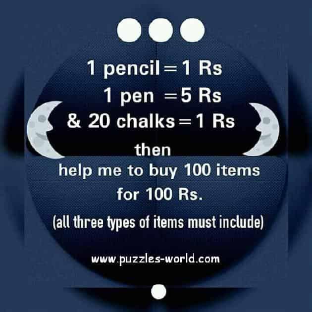 Pencil Pen and Chalks Puzzle