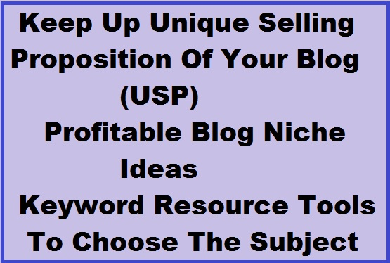 niche blog, blog, keyword, usp, ideas, tools