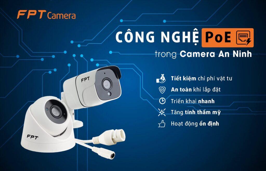 Camera FPT có cả kết nối không dây Wifi và PoE