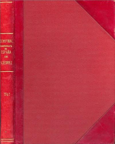 Detalle de la cubierta del libro encuadernado de la Semifinal Norte del Campeonato de España Individual (Santander 1961)