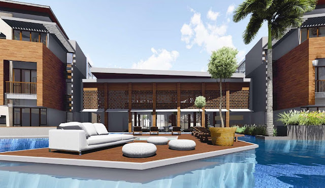 pool deck asatti garden house bsd